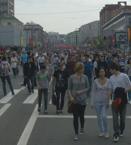 Demo in Moskau am 6. Mai 2012